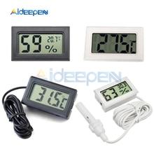 Мини lcd Цифровой термометр гигрометр-50~ 110 градусов датчик температуры для внутреннего наружный морозильник холодильник 1 м 1,5 м 2 м Зонд