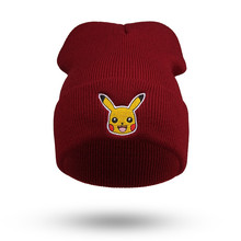 Winter Beanies For Men Women Knitted Acrylic Hats Pokemon Go Warm Pikachu hat cap skullies Touca Gorros Cappelli Tuque Femme 9