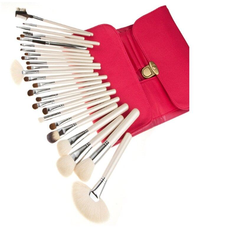 ФОТО 26 PCS Goat hair Makeup brush handle champagne Makeup brush set Makeup suits wooden handle Champagne Foundation Set&Kits Hair