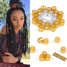 Hair Ring For Braids Hair Clips 100 Pcs Dreadlock Beads Silv