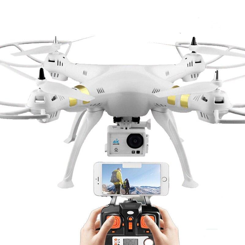 X8 drone professionnel double GPS quadrirotor WIFI transmission d'image en temps réel moteur sans balai 4 K HD drone aérien hélicoptère RC