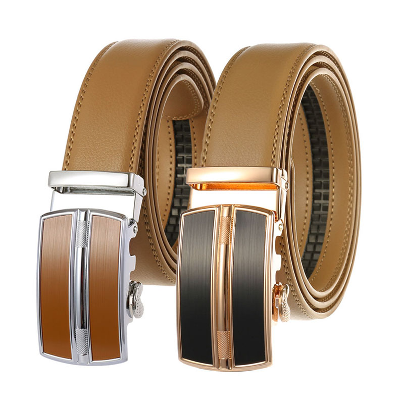 Ratchet Belt Replacement Men PU Faux Leather Dress Strap Waistband No Buckle