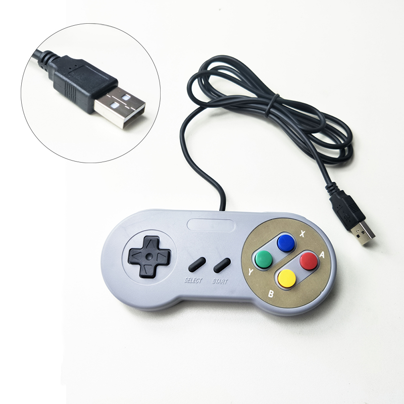 Image 2 - classical USB Controller Gaming Joystick Gamepad Controller for  SNES Game pad for Windows PC MAC Computer Control Joystick-in Gamepads from Consumer Electronics