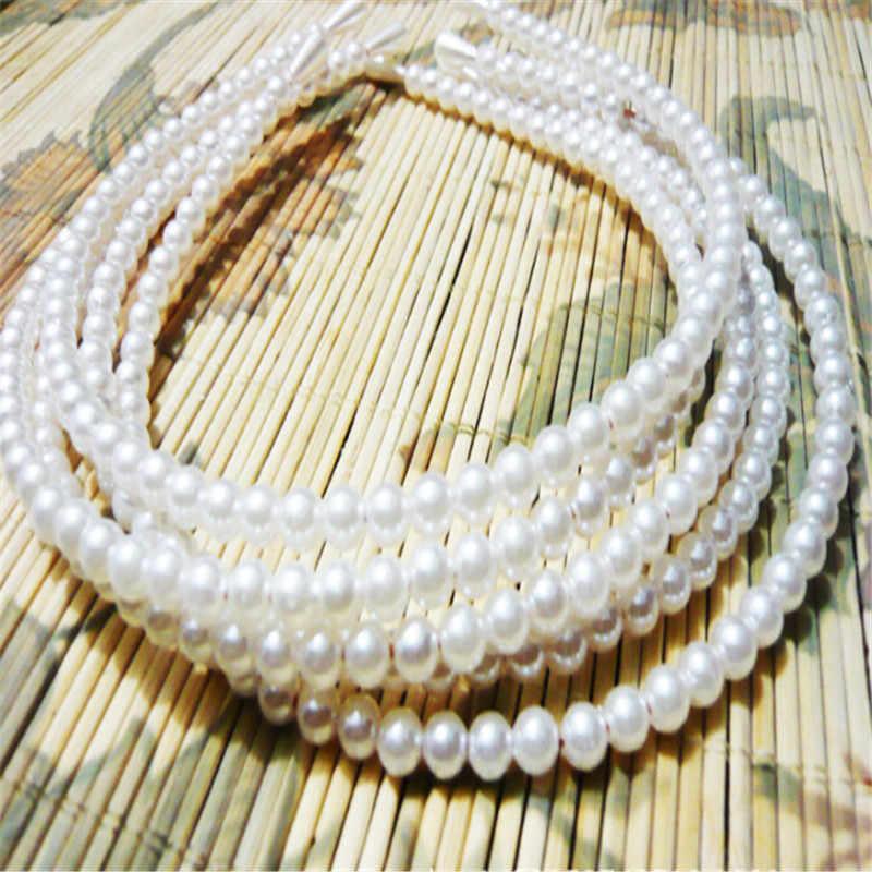 Nouveau chaud coréen échantillon conception Imitation perle bande de cheveux filles cheveux accessoires femmes bandeau de mariage de mariée cheveux cerceau