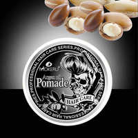Mokeru 100g Natural Long Lasting Pomade Extra Strong Hold Hair Gel Wax Men For Edge Control Argan oil Essence Hair Styling Wax