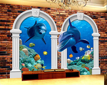beibehang Creative Advanced Decorative Interior 3d Wallpaper Stereo Arctic Underwater World TV Walls papel de parede wallpaper