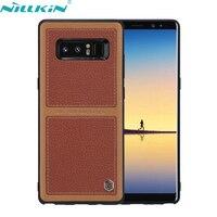 NILLKIN ברט Business Case לסמסונג גלקסי הערה 8 Note8 כיסוי נרתיק עור באיכות רטרו N950F כריכה אחורית טלפון סלולרי מקרי