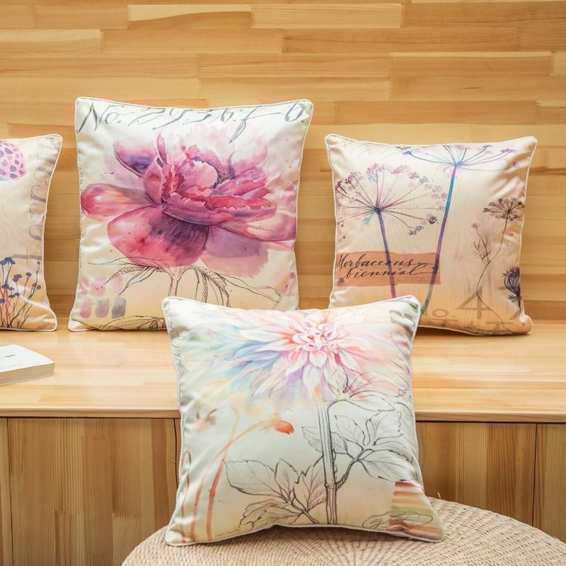Kiváló minőségű divatos virág nyomtatott vastag utánzat selyem - Lakástextil - Fénykép 2