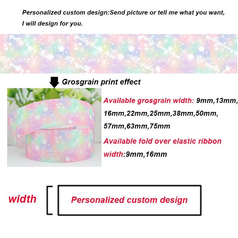22mm de ancho de transferencia de calor impresión de papel de aluminio de color sólido cinta de grosgrain diseño personalizado patrón accesorios de boda 300 yardas-in Cintas from Hogar y Mascotas    1