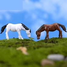 Mini New Horse Moss Micro Landscape Decoration Decoration Simulation Pvc Doll Handle Meat Doll Home Decor Miniatures Figurine(China)