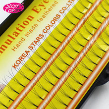 Stars Colors 3D Individual False Eyelash Extension Hand Made Imitate Mink Eyelashes Natural 3D From Korea Fake Eyelash
