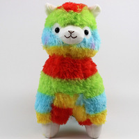 Newest 2 Colors 17cm 35cm Rainbow Alpaca Plush Toy Soft Plush Alpacasso Baby Plush Stuffed Animals