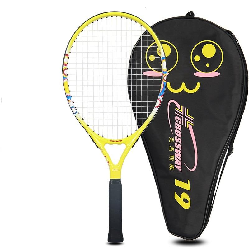 Детская Теннисная ракетка для учеников начальной и средней школы, начинающих, полностью углеродная ракетка, спортивные товары для обучения детей - Цвет: 21 inch