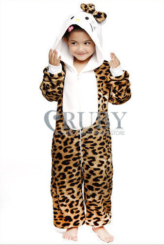 Unisex Children's Costumes Kids Fashion Cosplay Onesies Animal Pajamas Christmas Gift Cute Leopard Cat Cartoon Pyjamas - RUBY TOP 2 store