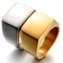 New Fine Jewelry High Polished Signet Solid Stainless Steel