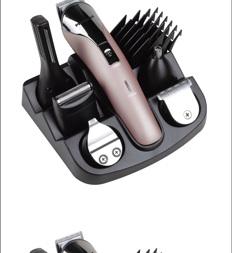 Pritech 6 In1 Hair Cutting Machine Hair Clipper Hair Trimmer The Beard Trimmer Machine For Trimming Barber Haircut Machine In Hair Care Styling From