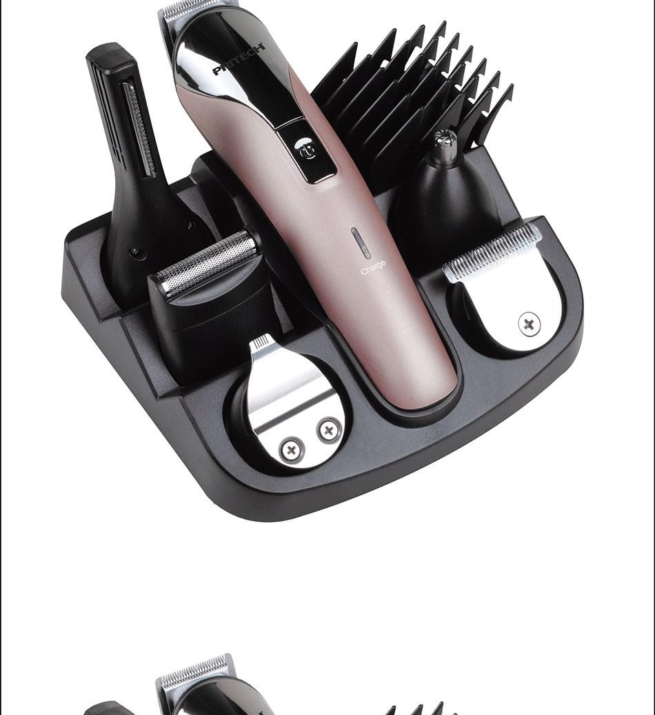 Pritech 6 en 1 recargable trimmer de pelo profesional cortadora de ... d8c749b4237c