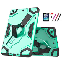 For iPad mini2 Back hard Armor Cover for iPad mini 1 mini 2 mini 3 7.9'' Tablet Case PU+PC Heavy Duty Cases Hybrid Rugged Rubber 2016 new shockproof heavy duty case for ipad 2 3 4 protect skin rubber hybrid silicon pc cover cases