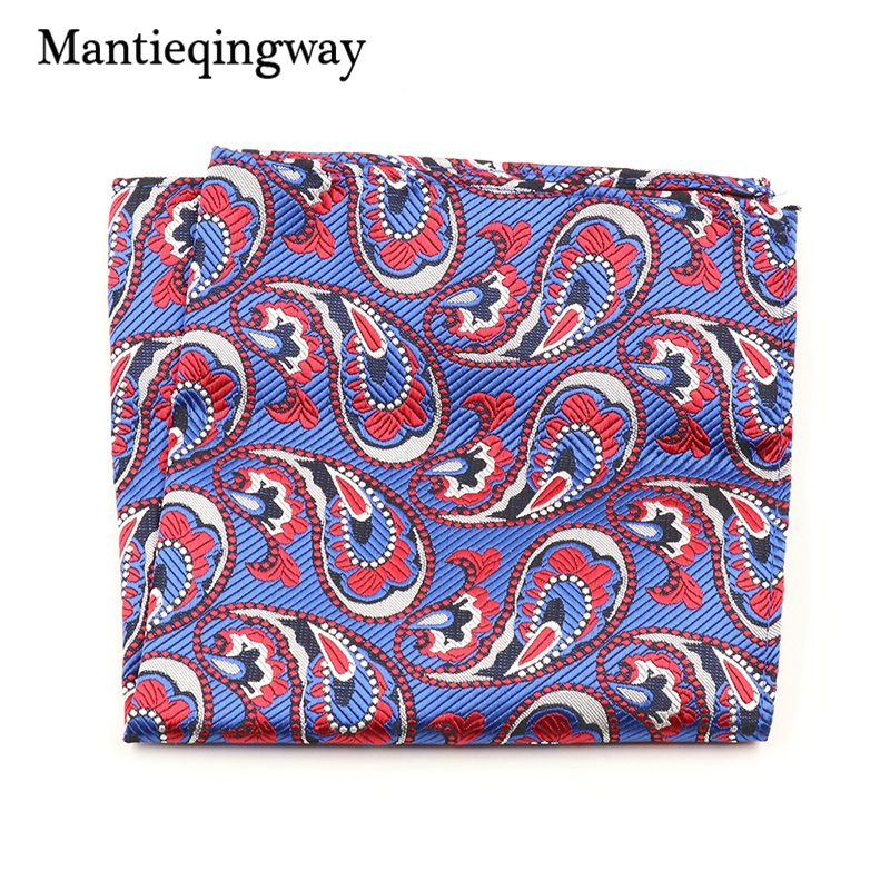 Mantieqingway Men's Polyester Yarn Floral Handkerchief Wear Business Chest Towel Pocket Square Towel Hanky For Mens Accessories