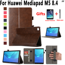 цена Premium Leather Case for Huawei Mediapad M5 8 8.4 inch SHT-W09 SHT-AL09 Cover Flip Stand Smart Case for Huawei Mediapad M5 8.4 в интернет-магазинах