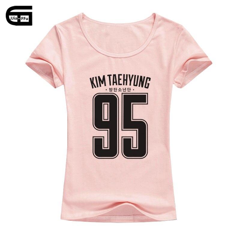 Detalle Comentarios Preguntas sobre BTS T shirt mujeres Bangtan Boys Kpop  moda Femme amor BTS Kim Taehyung Casual camiseta de las mujeres coreanas  B21 en ... 3a7e89d5e1141