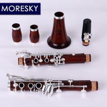 MORESKY Red Wood Профессиональный кларнет Falling Tune B, палисандр кларнет с элементами из красного дерева посеребренные ключи из твердой древесины