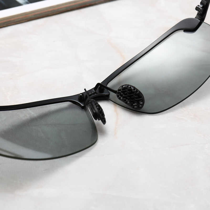 Photochromic Óculos De Sol Dos Homens Polarizados condução Óculos Camaleão Mudança de Cor do Sexo Masculino Óculos de Sol Óculos de Visão Dia Noite Óculos de Condução