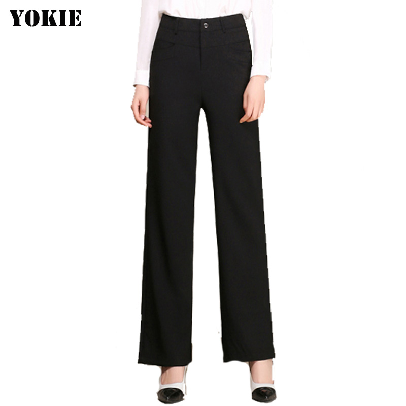 Linen cotton   wide     leg     pants   women loose high waist pantalon femme solid fomal work office   pants   woman trousers Plus size S-3XL