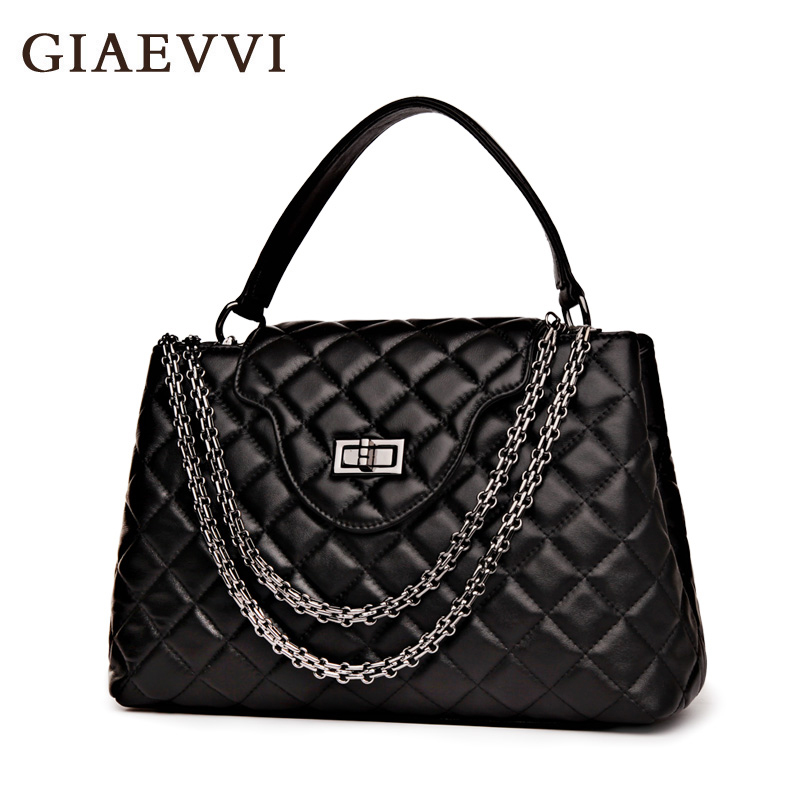 GIAEVVI brand tote new women shoulder bags genuine leather handbag ladies messenger bag crossbody designer handbags high quality giaevvi luxury handbags split leather tote women messenger bags 2017 brand design chain women shoulder bag crossbody for girls
