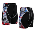 Дышащая мужская Компрессионные Шорты ММА Тренировки Crossfit Фитнес Днища Кожи Tight Pants