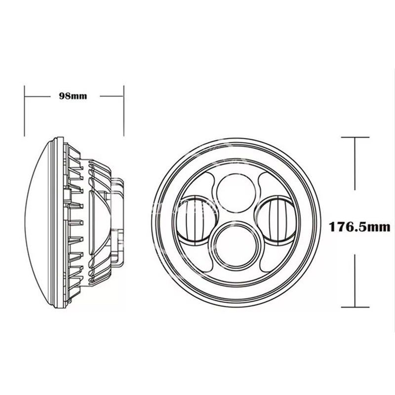 2Pcs / Lot SUNKIA 7 დიუმიანი LED - მანქანის განათება - ფოტო 4