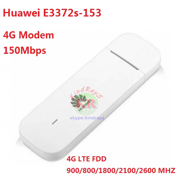 Unlocked Huawei E3372 E3372s-153 4G LTE USB Dongle USB Stick Datacard Mobile Broadband USB Modems 4G Modem With SIM slot unlocked huawei e3372 e3372s m150 2 4g lte cat4 usb stick modem broadband hotspot 49dbi crc9 4g antenna