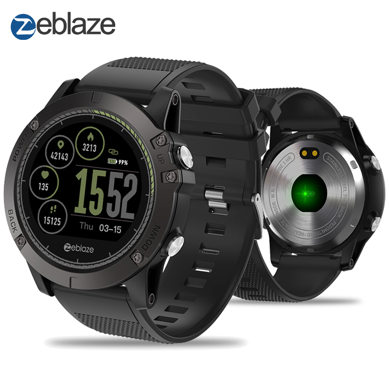 Новый zeblaze Vibe 3 HR Smartwatch IP67 Водонепроницаемый Носимых устройств HeartRate монитор ips Цвет Дисплей Смарт часы для Android IOS