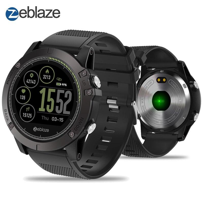 Nouveau Zeblaze VIBE 3 RH IPS écran couleur Sport Smartwatch moniteur de fréquence cardiaque IP67 Étanche montre connectée Hommes Pour IOS et Android