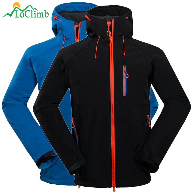 LoClimb Waterproof Fleece Softshell Ski Jacket Men Winter Trekking Mountain Climbing Coat Outdoor Windproof Hiking Jackets,AM106 стоимость