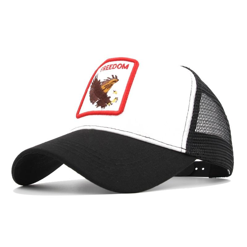 Mode Dieren Borduurwerk Baseballcaps Baseballcap voor heren en dames Hiphopmuts Zomer Mesh Hat Streetwear Cap Borduurmuts animales bordados