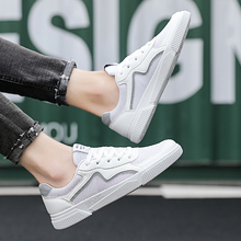 Rommedal reflects light sneakers men air mesh breathable comfy skate men shoes leisure flats white black casual shoes male 2019
