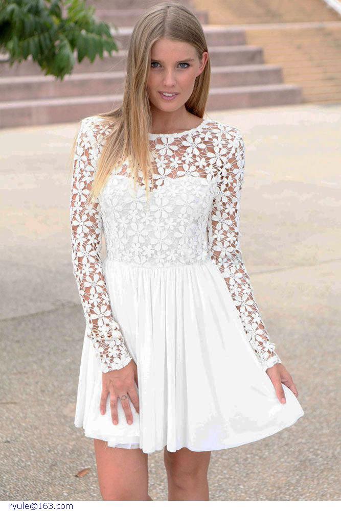 White Skater Dresses for 8th Grade Graduation