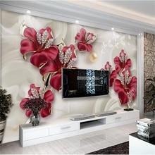 цена на beibehang Papel de parede Custom Wallpaper 3D Photo murals Room Fragrant Stereoscopic Jewelry Flower sofa Background Wall paper
