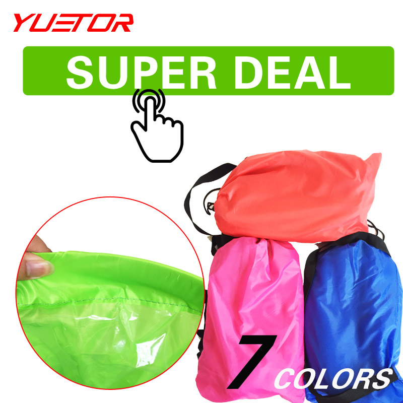 Brand YUETOR ultralight hangout lazy air font b bag b font lounger sleep camping for beach