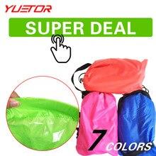 Marca YUETOR hangout ultraligero dormir camping para establecer la bolsa de playa bolsa de aire perezoso tumbona saco de dormir acampamento de aire sofá