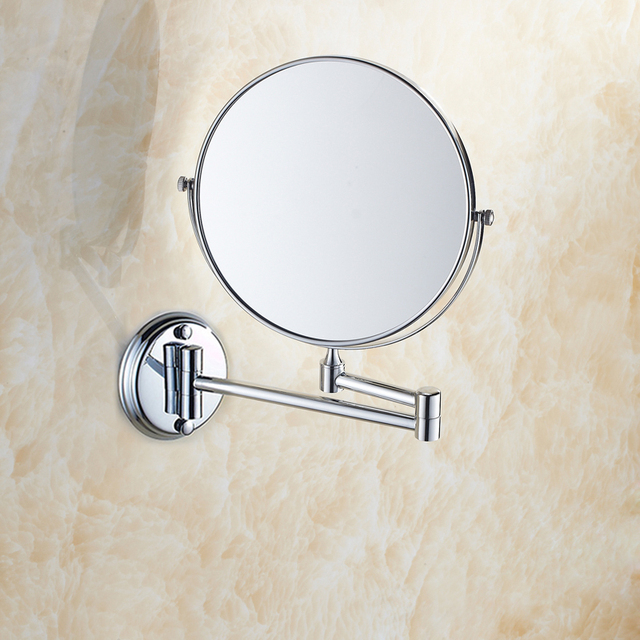 BAKALA Dual Makeup mirrors 1:1 and 1:3 magnifier Copper Cosmetic Bathroom Double Faced Bath Mirror wall mirror  BR-6738