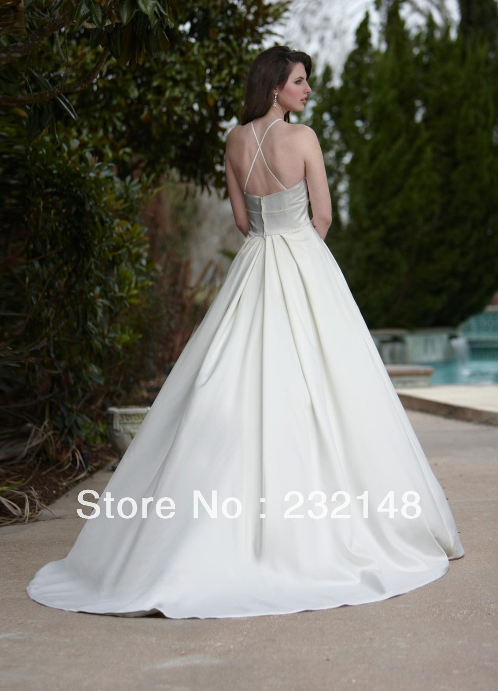 Online get cheap simple plain wedding dresses aliexpress for Plain wedding dresses with straps