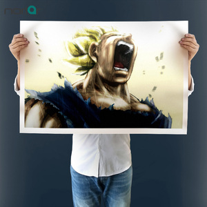 Unframed High Quality Printed Vegeta Super Saiyan Cry Painting On Canvas for Wall Decoration Canvas Art Print Poster