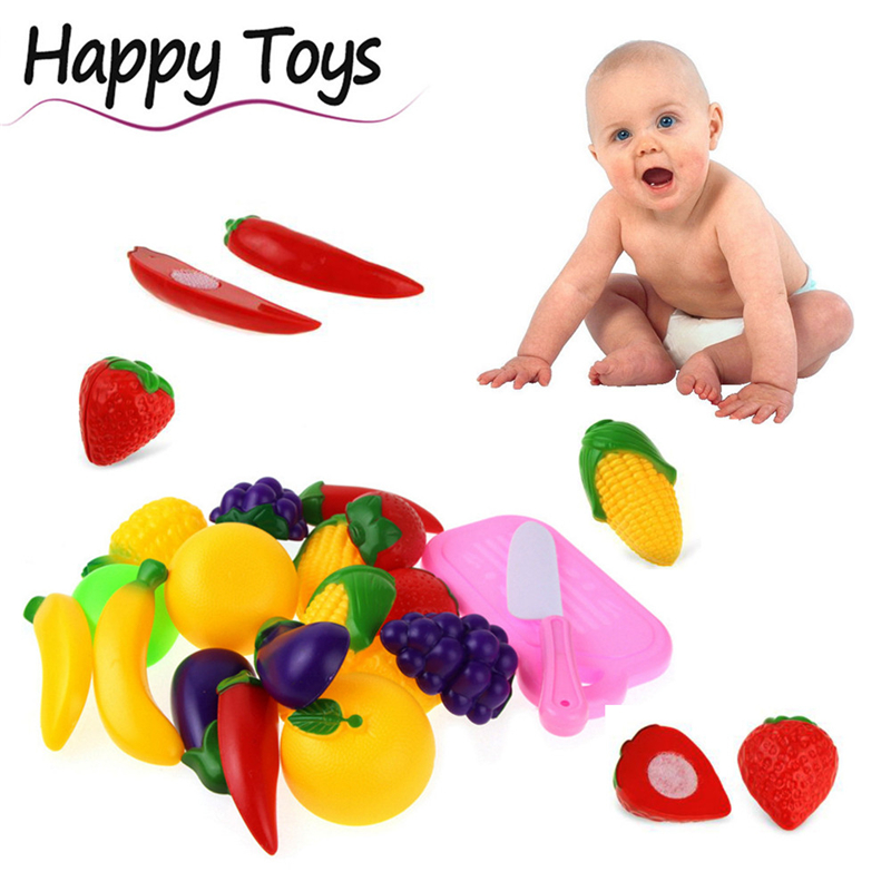 2017 New Arrival 11PC Cutting Fruit Vegetable Pretend Play Children Kid Educational Toy Great Gift For Children Educaional Learn