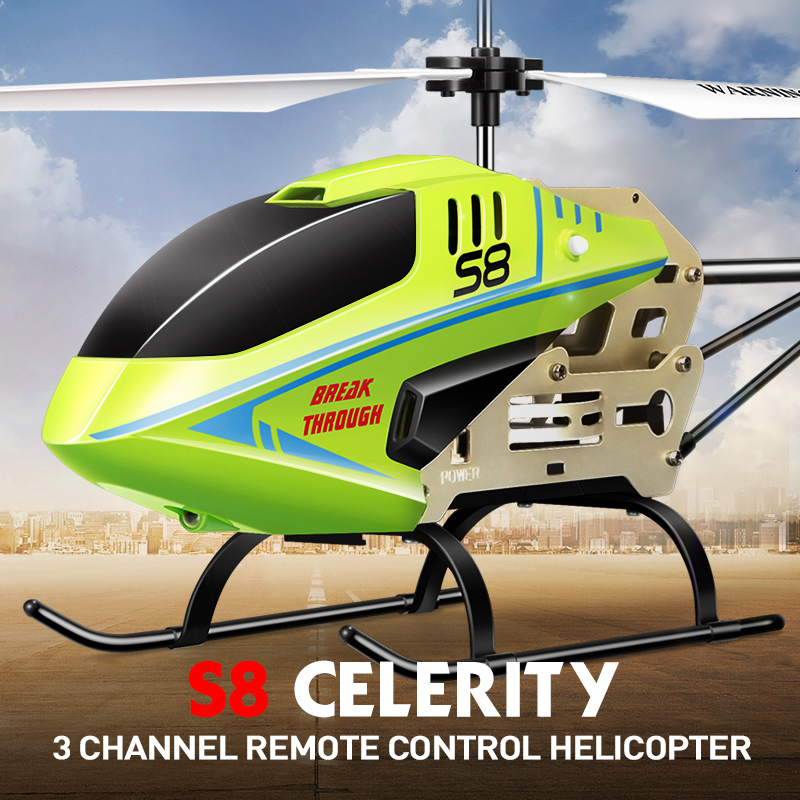 SYMA S8 3 5CH RC Helicopter Electric with Gryo Remote Control Searching Light RTF Model Toys