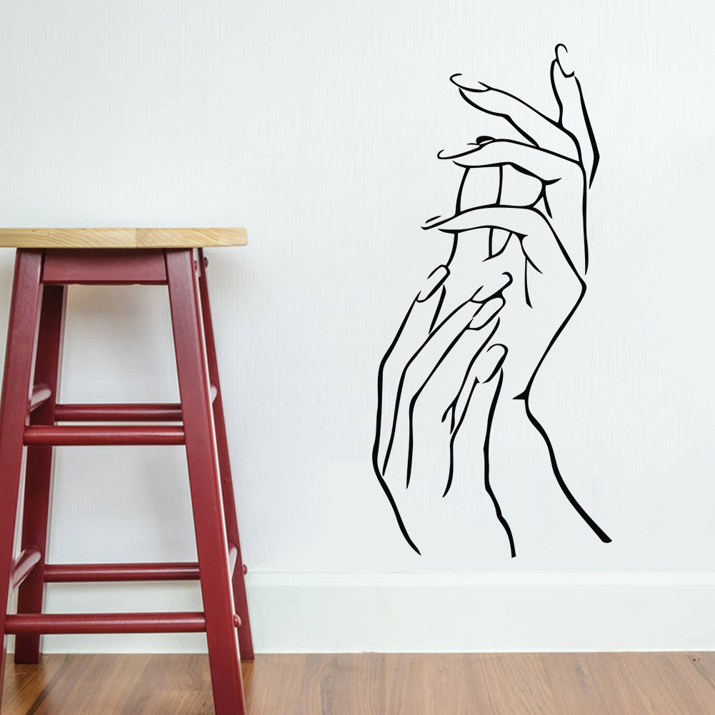 Beautiful Modern Elegant Girls Hands Wall Stickers Vinyl8488 Samll Size Bedroom  Living Room Womenu0027s Store Home Decoration Free Shipping