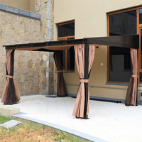 3*3.6 meter grace PC board canopy high quality durable garden gazebo outdoor tent sun shade pavilion furniture house