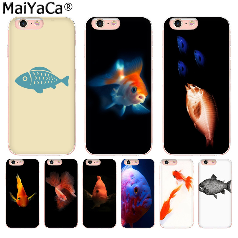 MaiYaCa Animal fish Luxury Fashion Phone Case for iPhone 8 7 6 6S Plus X 10 5 5S SE XS XR XS MAX Coque Shell