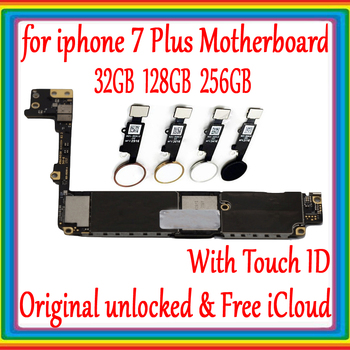 For iphone 7 plus Motherboard Factory unlocked Mainboard With /Without Touch ID,100% Original for iphone 7P 7 plus Logic board